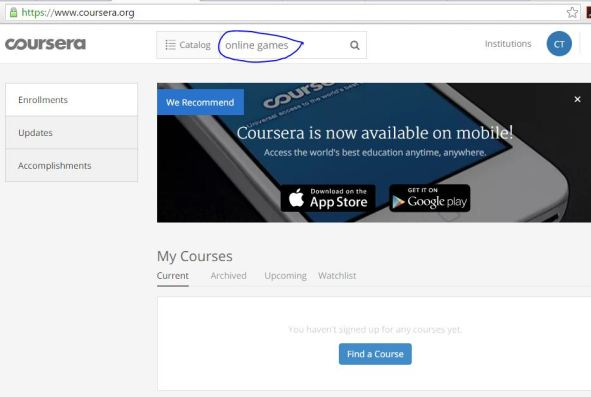 Coursera-home page
